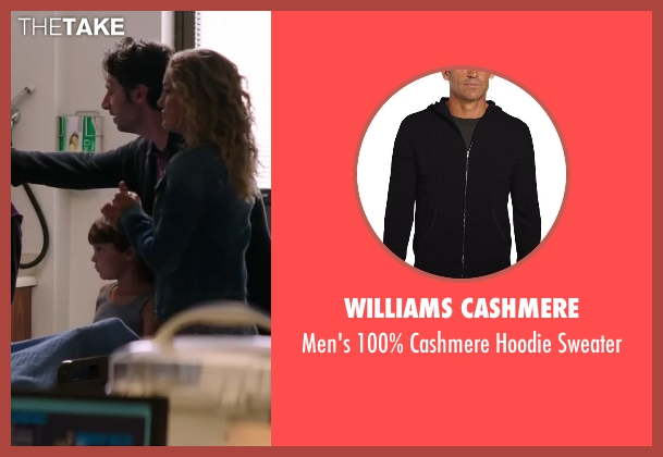 Williams Cashmere black sweater from Wish I Was Here seen with Zach Braff (Aidan Bloom)