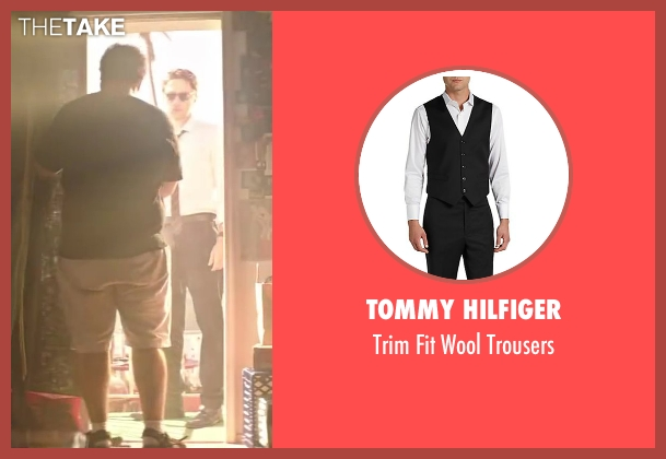 Tommy Hilfiger black trousers from Wish I Was Here seen with Zach Braff (Aidan Bloom)
