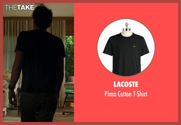 Lacoste black t-shirt from Wish I Was Here seen with Zach Braff (Aidan Bloom)