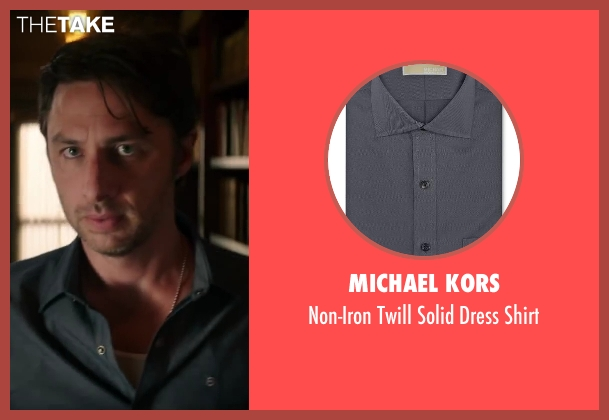 Michael Kors gray shirt from Wish I Was Here seen with Zach Braff (Aidan Bloom)