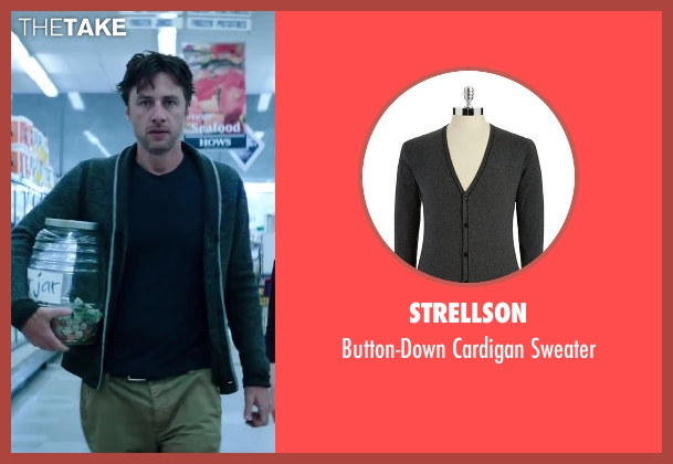 Strellson gray sweater from Wish I Was Here seen with Zach Braff (Aidan Bloom)