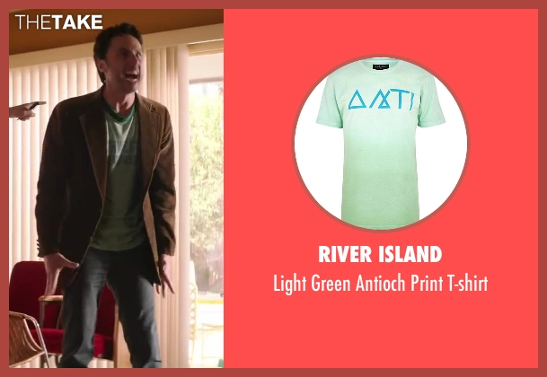River Island green t-shirt from Wish I Was Here seen with Zach Braff (Aidan Bloom)