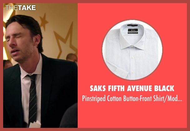 Saks Fifth Avenue Black white fit from Wish I Was Here seen with Zach Braff (Aidan Bloom)