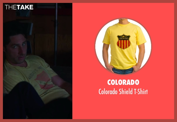 Colorado yellow t-shirt from Wish I Was Here seen with Zach Braff (Aidan Bloom)