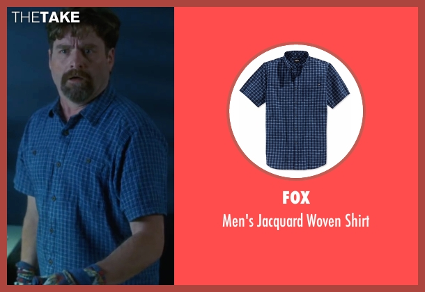 Fox blue shirt from Keeping Up with the Joneses seen with Zach Galifianakis (Jeff Gaffney)