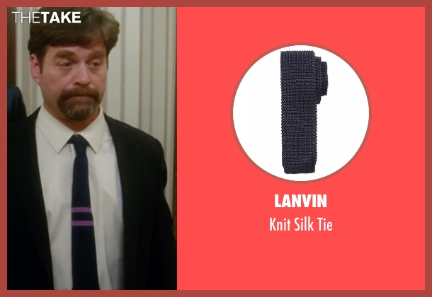 Lanvin blue tie from Keeping Up with the Joneses seen with Zach Galifianakis (Jeff Gaffney)