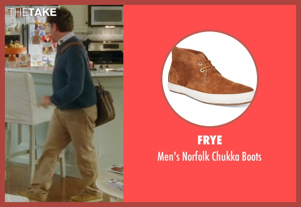 Frye brown boots from Keeping Up with the Joneses seen with Zach Galifianakis (Jeff Gaffney)