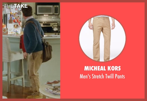 Micheal Kors brown pants from Keeping Up with the Joneses seen with Zach Galifianakis (Jeff Gaffney)