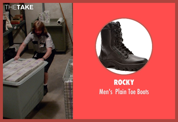 Rocky black boots from Masterminds seen with Zach Galifianakis (David Ghantt)