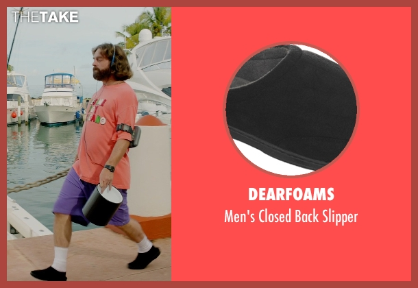Dearfoams black slipper from Masterminds seen with Zach Galifianakis (David Ghantt)