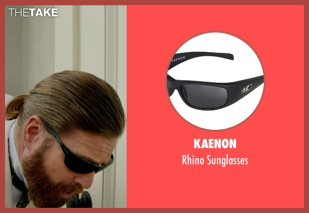 Kaenon black sunglasses from Masterminds seen with Zach Galifianakis (David Ghantt)