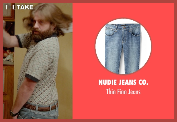 Nudie Jeans Co. blue jeans from Masterminds seen with Zach Galifianakis (David Ghantt)