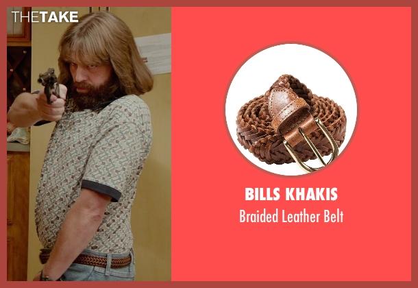 Bills Khakis brown belt from Masterminds seen with Zach Galifianakis (David Ghantt)