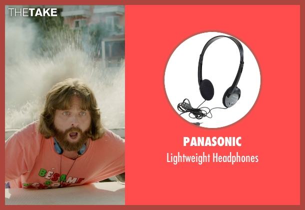 Panasonic headphones from Masterminds seen with Zach Galifianakis (David Ghantt)