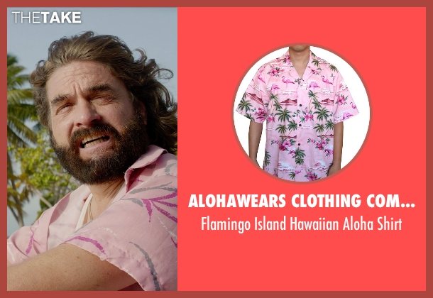 Alohawears Clothing Company pink shirt from Masterminds seen with Zach Galifianakis (David Ghantt)