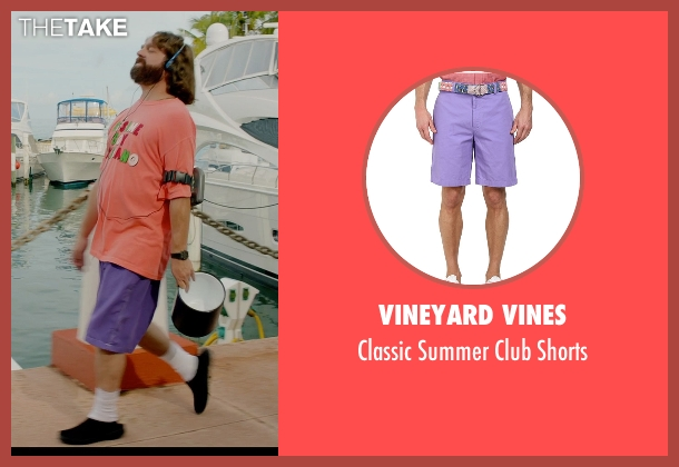 Vineyard Vines purple shorts from Masterminds seen with Zach Galifianakis (David Ghantt)