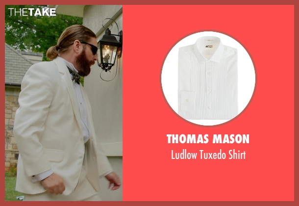 Thomas Mason white shirt from Masterminds seen with Zach Galifianakis (David Ghantt)