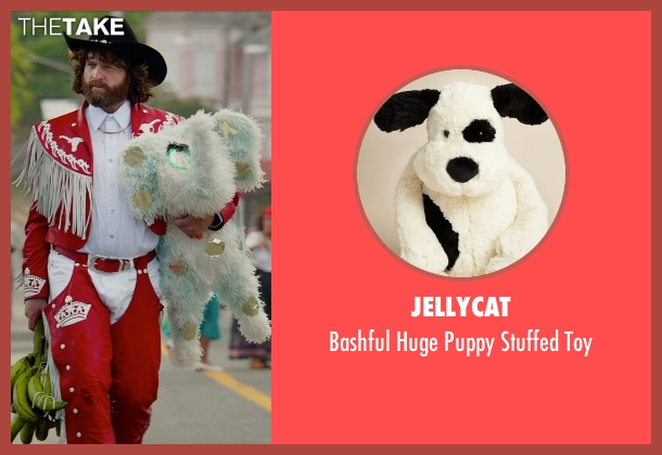Jellycat white toy from Masterminds seen with Zach Galifianakis (David Ghantt)