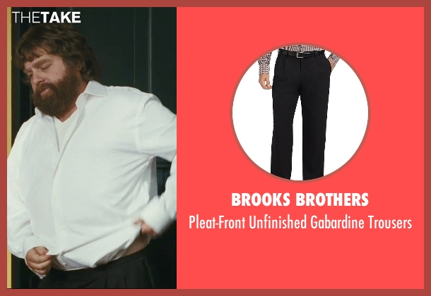 Brooks Brothers black trousers from The Hangover seen with Zach Galifianakis (Alan)