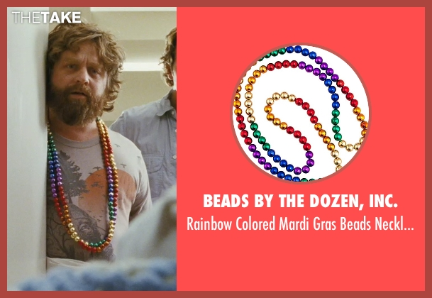 Beads by the Dozen, Inc. blue necklace from The Hangover seen with Zach Galifianakis (Alan)