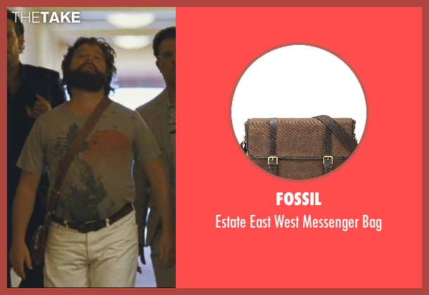 Fossil brown bag from The Hangover seen with Zach Galifianakis (Alan)