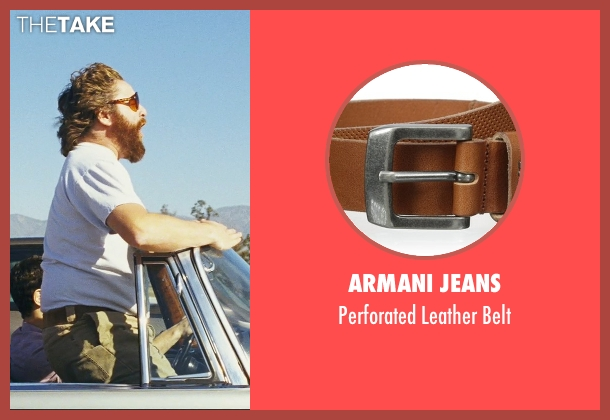 Armani Jeans brown belt from The Hangover seen with Zach Galifianakis (Alan)