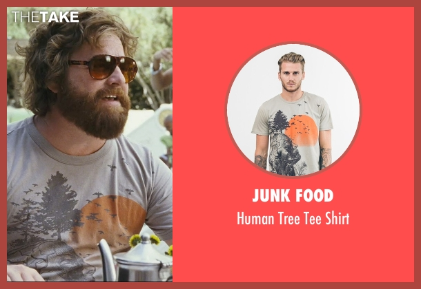 Junk Food gray shirt from The Hangover seen with Zach Galifianakis (Alan)