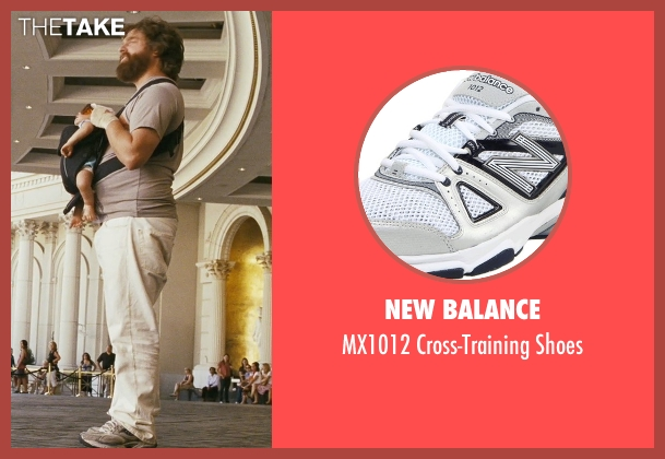 New Balance gray shoes from The Hangover seen with Zach Galifianakis (Alan)