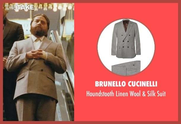 Brunello Cucinelli gray suit from The Hangover seen with Zach Galifianakis (Alan)