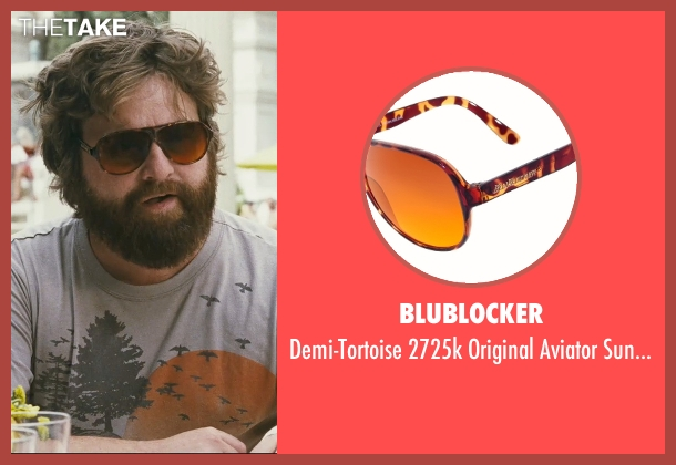 Blublocker red sunglasses from The Hangover seen with Zach Galifianakis (Alan)