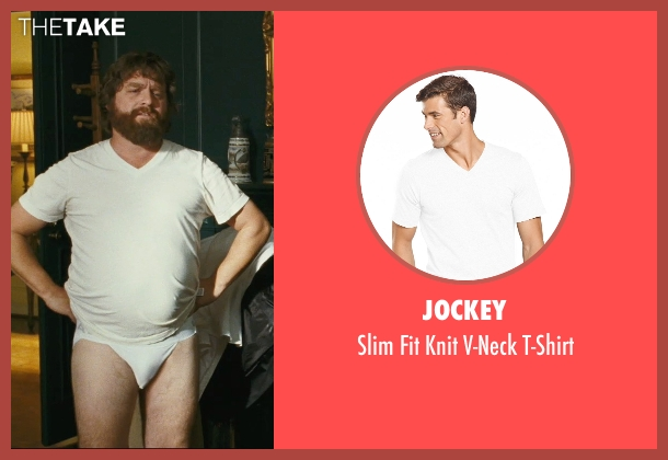 Jockey white t-shirt from The Hangover seen with Zach Galifianakis (Alan)