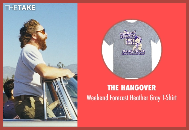 The Hangover white t-shirt from The Hangover seen with Zach Galifianakis (Alan)