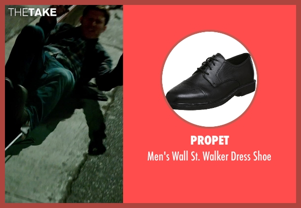 Propet black shoe from The Purge: Anarchy seen with Zach Gilford (Shane)