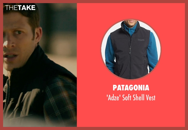 Patagonia black vest from The Purge: Anarchy seen with Zach Gilford (Shane)