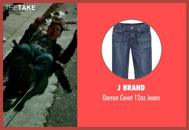 J Brand blue jeans from The Purge: Anarchy seen with Zach Gilford (Shane)