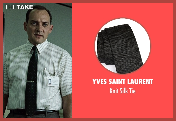 Yves Saint Laurent black tie from Fight Club seen with Zach Grenier (Richard Chesler)