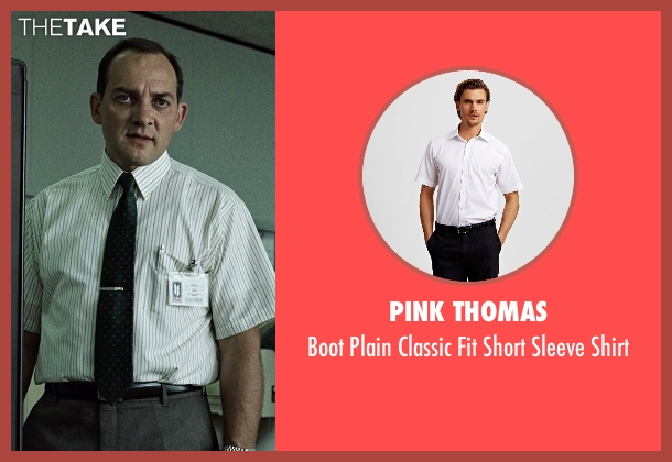 Pink Thomas white shirt from Fight Club seen with Zach Grenier (Richard Chesler)