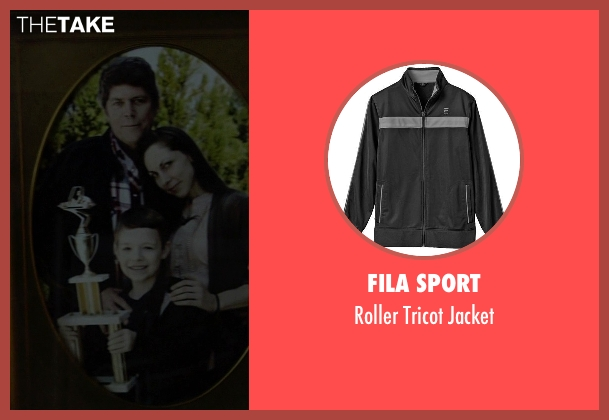 Fila Sport black jacket from Need for Speed seen with Zach Shirey (Young Tobey Marshall)