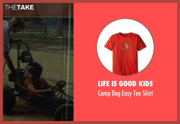 Life is Good Kids orange shirt from Need for Speed seen with Zach Shirey (Young Tobey Marshall)