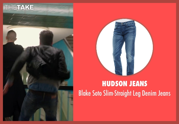 Hudson Jeans blue jeans from Hitman: Agent 47 seen with Zachary Quinto