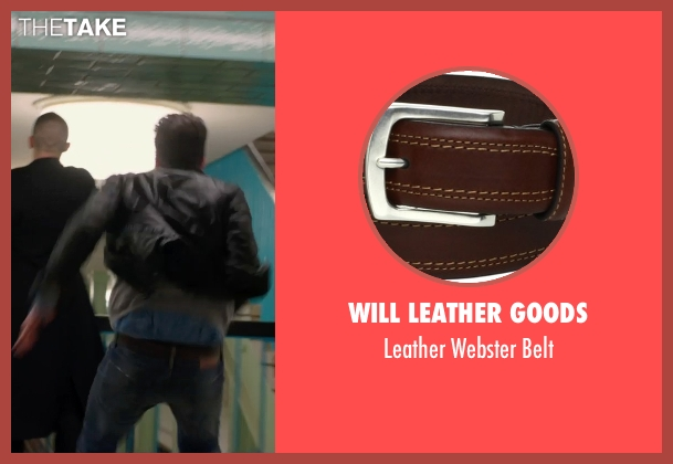 Will Leather Goods brown belt from Hitman: Agent 47 seen with Zachary Quinto