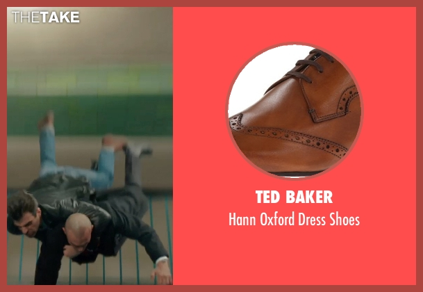 Ted Baker brown shoes from Hitman: Agent 47 seen with Zachary Quinto
