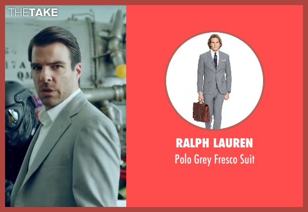 Ralph Lauren gray suit from Hitman: Agent 47 seen with Zachary Quinto (John Smith)