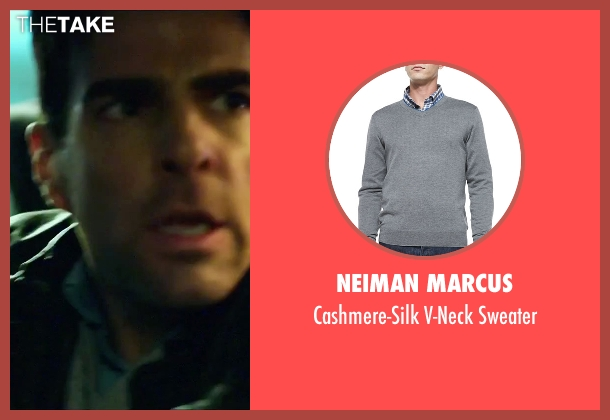 Neiman Marcus	 gray sweater from Hitman: Agent 47 seen with Zachary Quinto (John Smith)