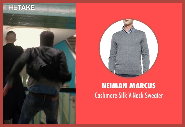 Neiman Marcus	 gray sweater from Hitman: Agent 47 seen with Zachary Quinto