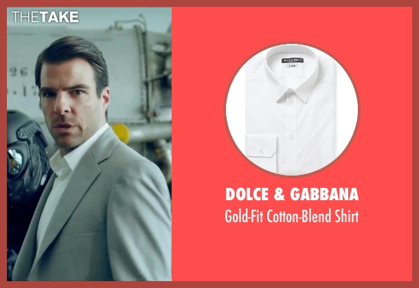 Dolce & Gabbana white shirt from Hitman: Agent 47 seen with Zachary Quinto (John Smith)