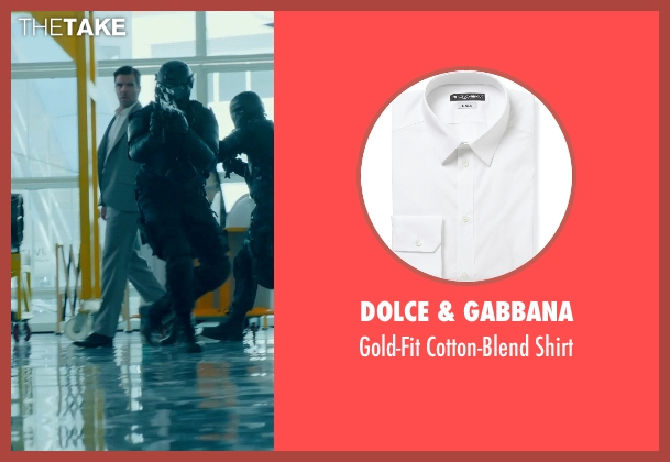 Dolce & Gabbana white shirt from Hitman: Agent 47 seen with Zachary Quinto