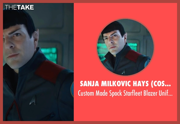 Sanja Milkovic Hays (Costume Designer) uniform from Star Trek Beyond seen with Zachary Quinto (Spock)