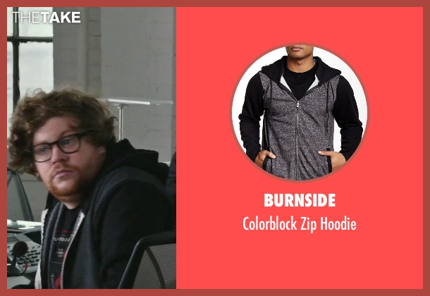 Burnside black hoodie from The Intern seen with Zack Pearlman (Unknown Character)