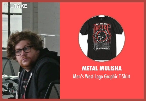 Metal Mulisha black t-shirt from The Intern seen with Zack Pearlman (Unknown Character)